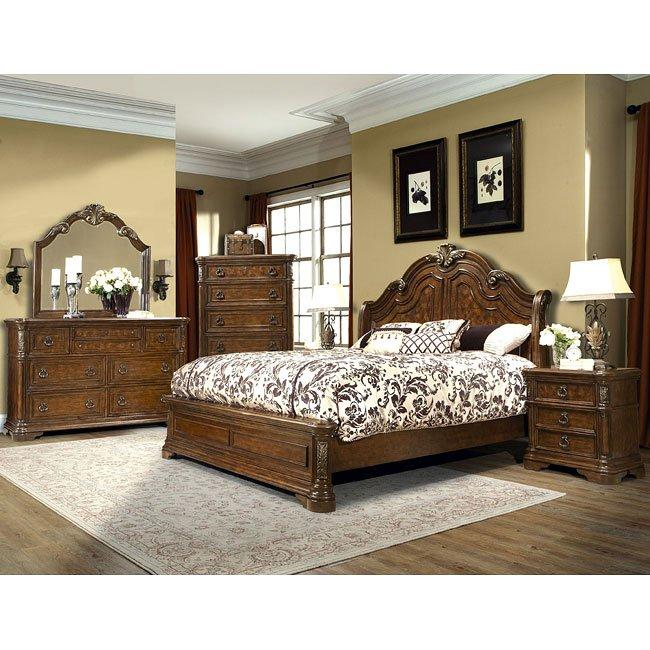 Romantic Dreams Sleigh Bedroom Set
