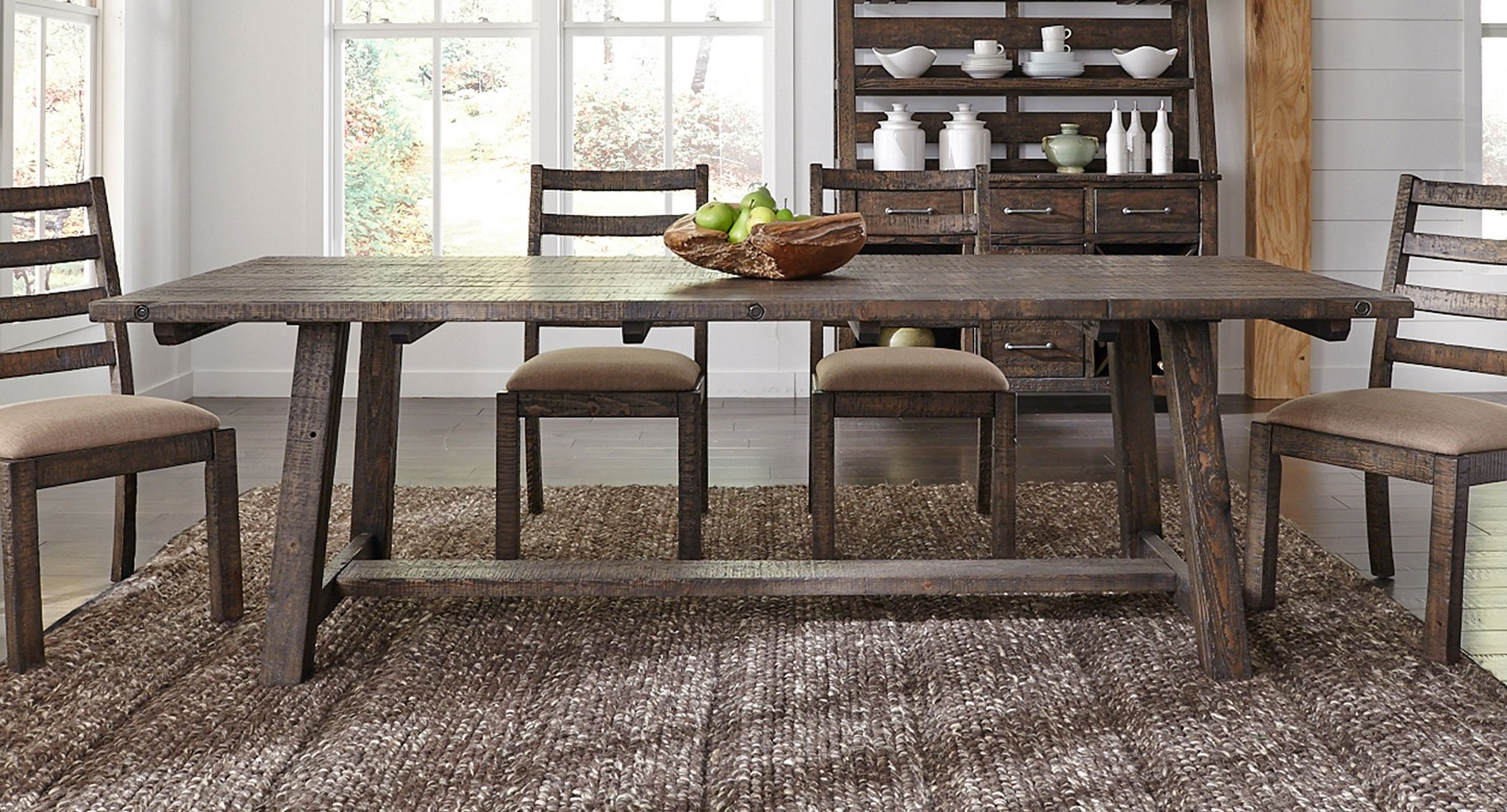 Prescott Valley 96 Inch Dining Table (Tobacco)