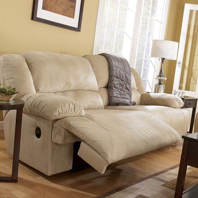 Hogan Khaki 2 Seat Reclining Sofa Signature Design Furniture Cart