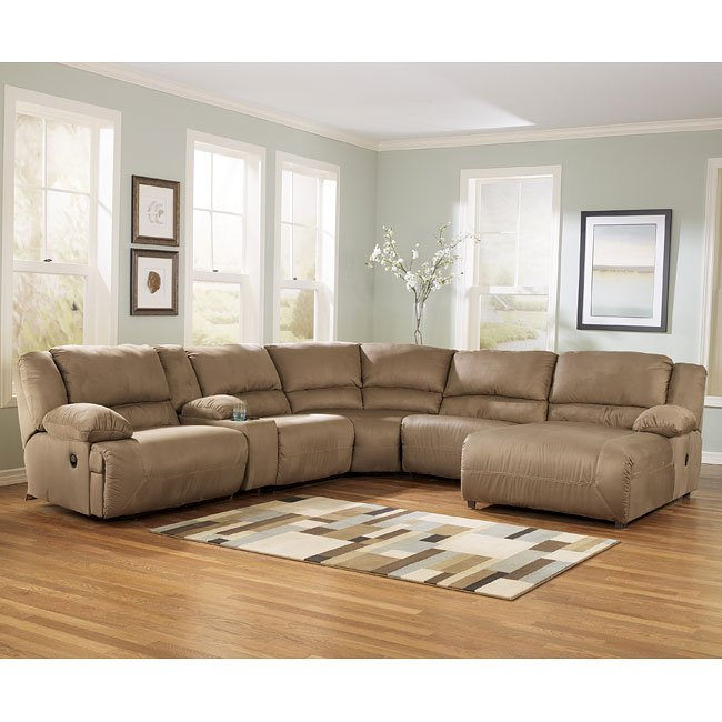 Modular Sectional Sofa Ashley: Mocha Modular Sectional Signature Design, 6