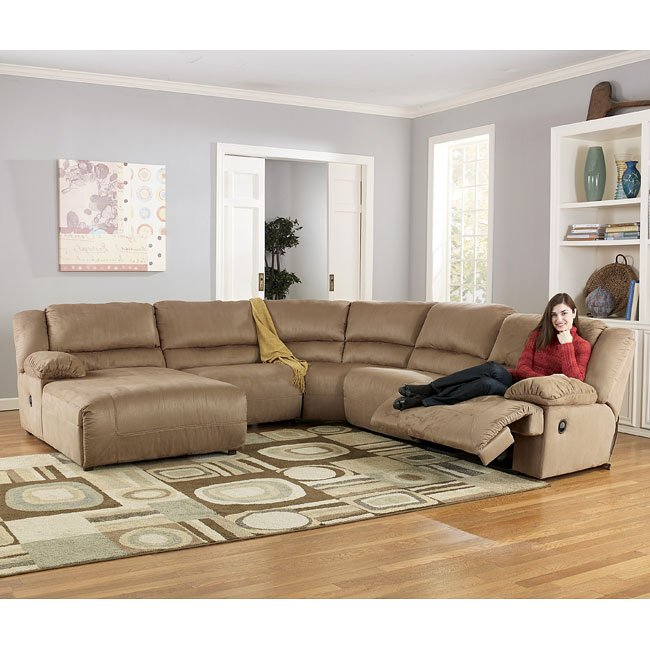 Hogan - Mocha Left Facing Chaise Sectional