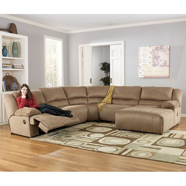 Hogan - Mocha Right Facing Chaise Sectional