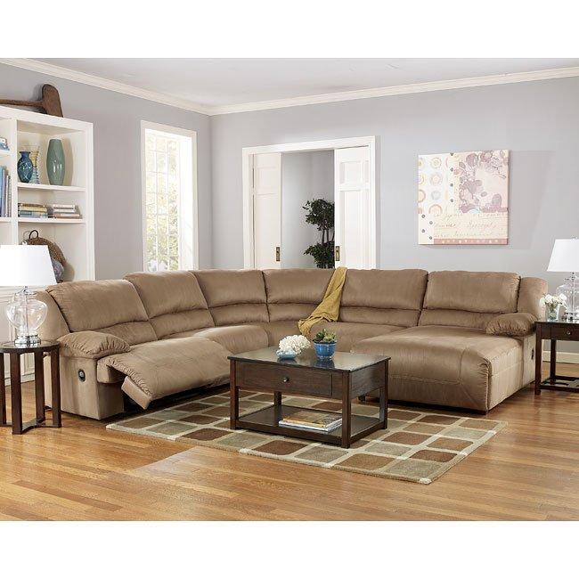 Hogan - Mocha Chaise Sectional Living Room Set