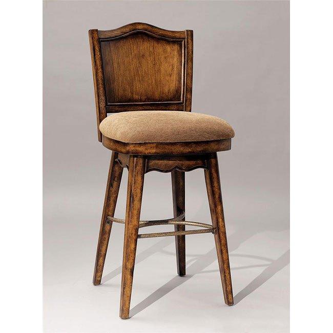 Bourbon Street Yorktown Cherry Swivel Bar Stool Powell Furniture Cart
