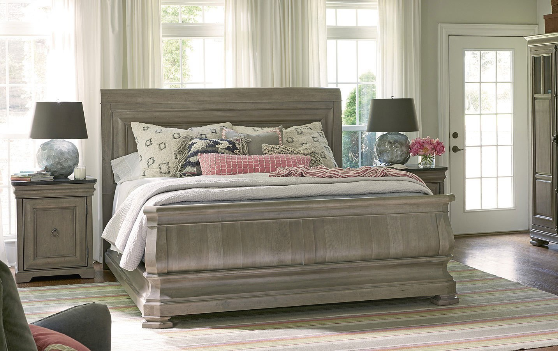 Reprise Sleigh Bedroom Set (Driftwood) Universal Furniture