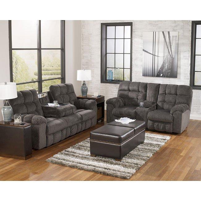 Acieona Slate Reclining Living Room Set