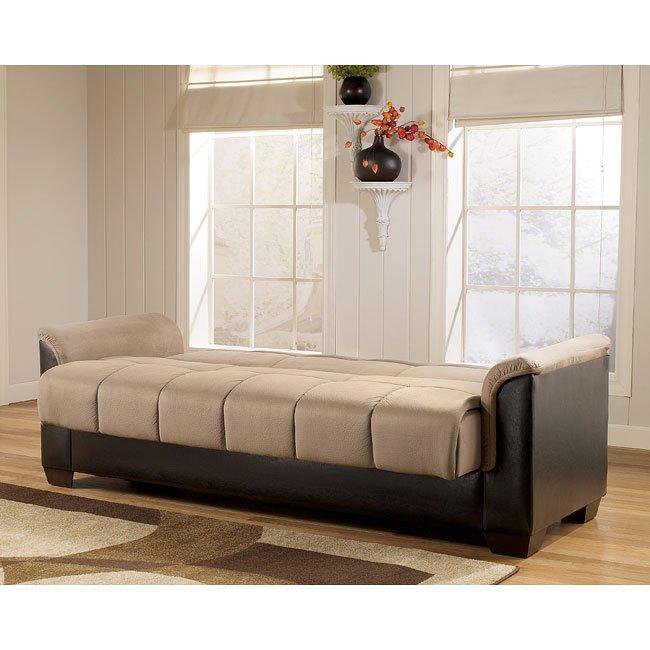 Charmant Roxanne   Mocha Flip Flop Sofa W/ Storage