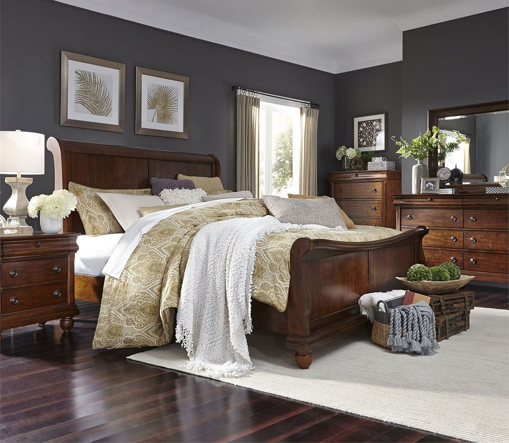 Rustic Traditions Sleigh Bedroom Set Liberty Furniture