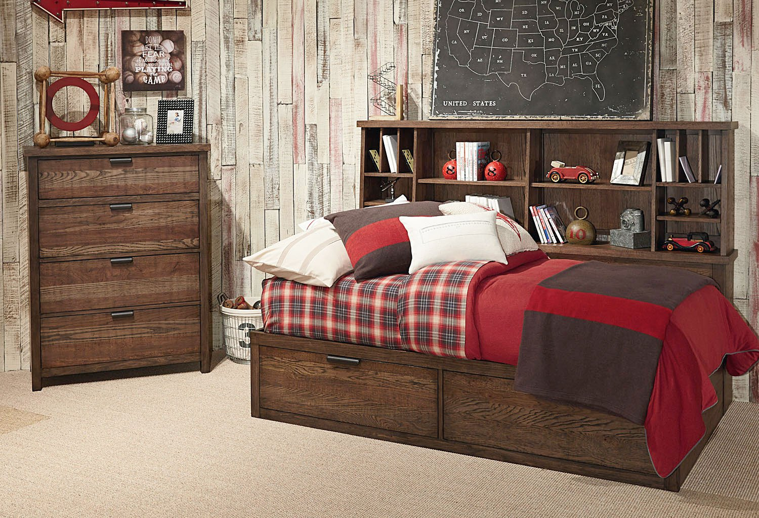fabulous kids bedroom furniture sets | Fulton County Bookcase Lounge Bedroom Set Legacy Classic ...
