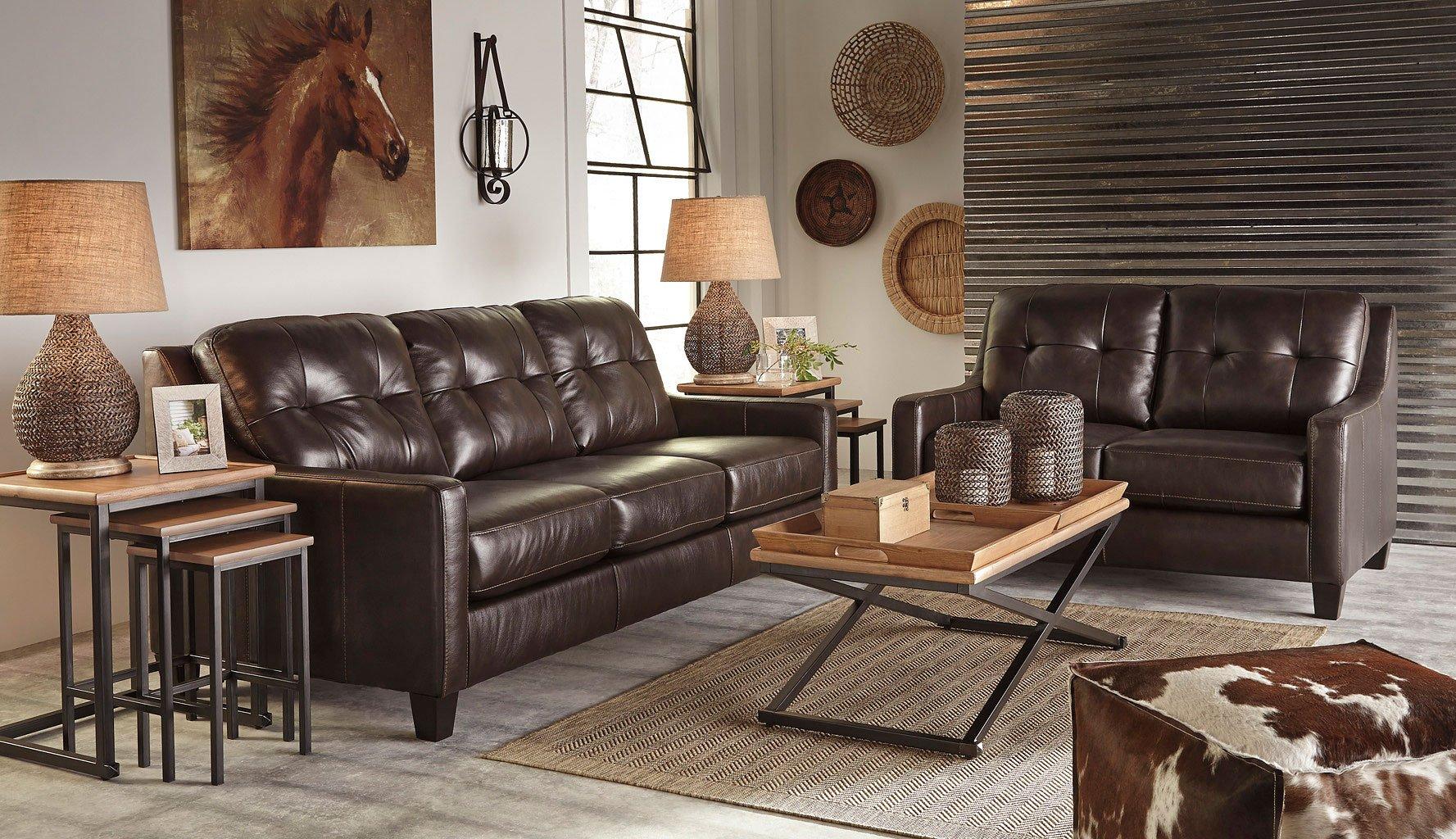 Okean Mahogany Living Room Set Signature Design