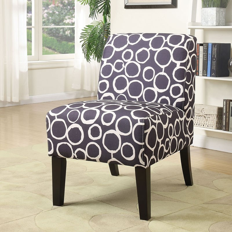 Ollano Accent Chair Blue Pattern Acme Furniture