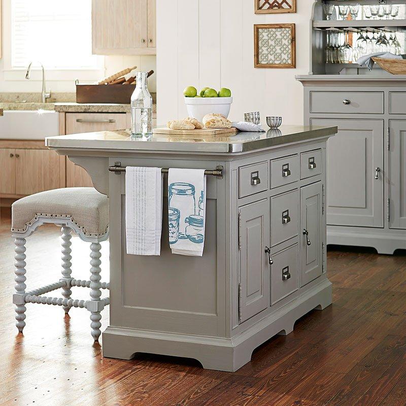 Dogwood Kitchen Island Set (Cobblestone)