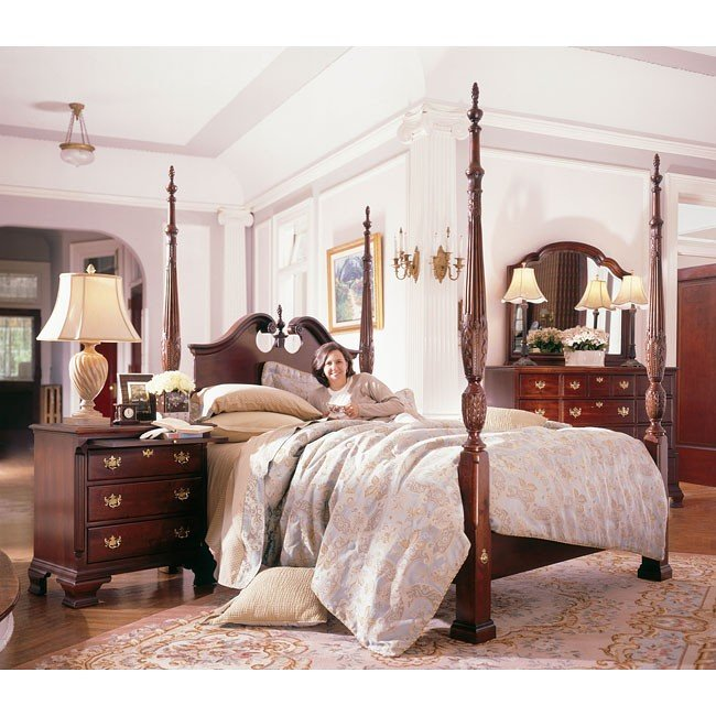 Carriage House Broken Pediment Rice Bedroom Set Kincaid Furniture Cart
