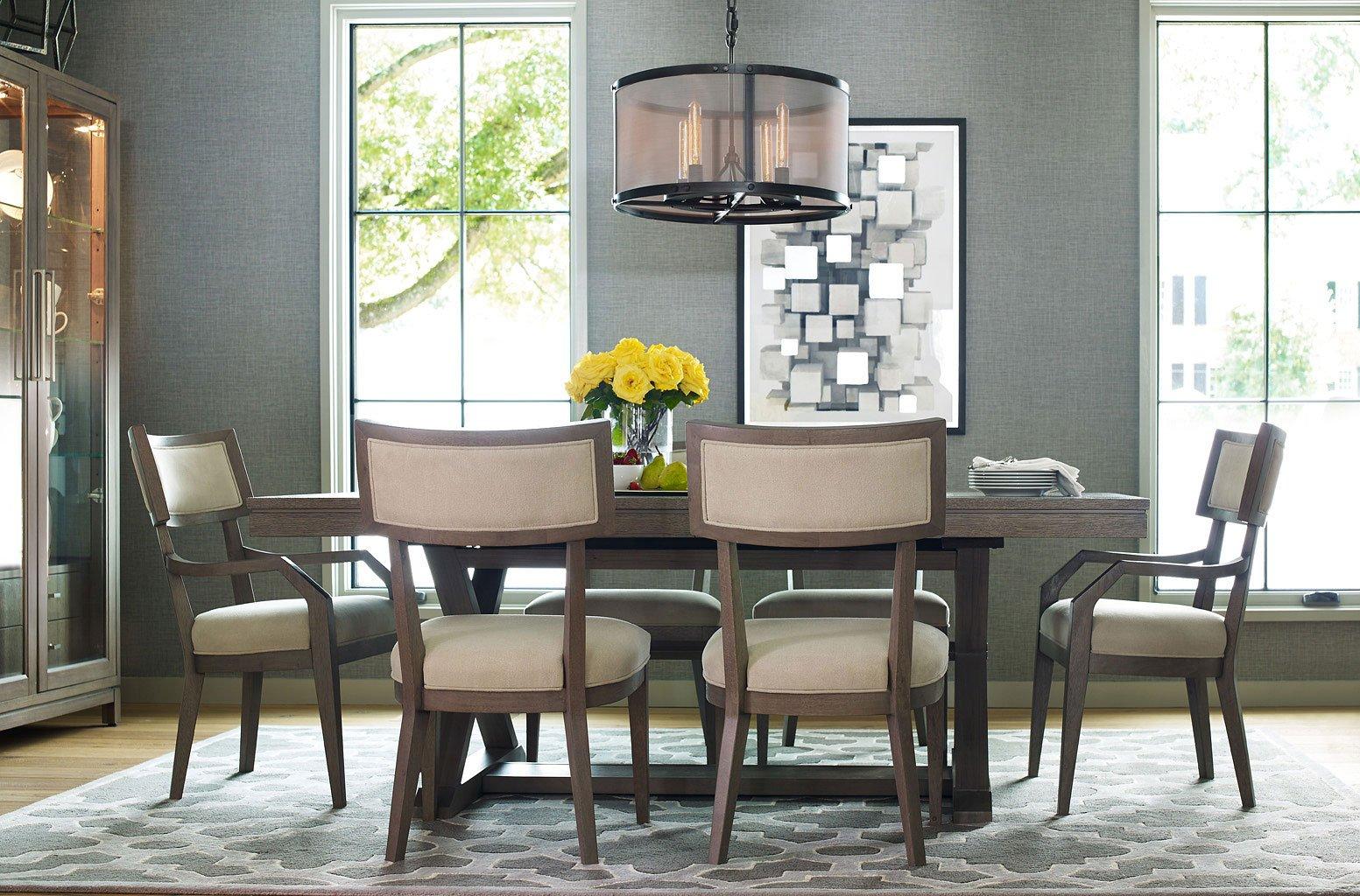 Highline Trestle Dining Room Set Rachael Ray Home By