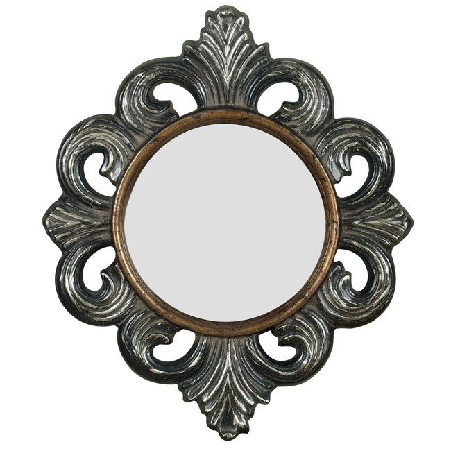 Orleans Wall Mirror (Blackened Gold)