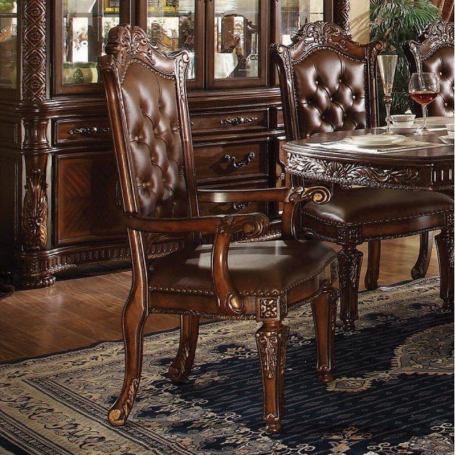 Vendome Traditional Formal Dining Room Cherry Finish: Vendome Double Pedestal Dining Set (Cherry) Acme Furniture