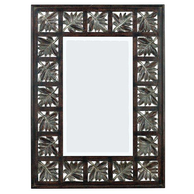 Foilage Wall Mirror (Dark Walnut)