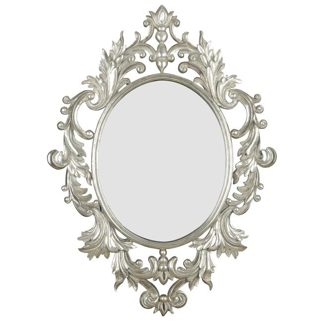 Louis Wall Mirror Silver Leaf Kenroy Furniture Cart