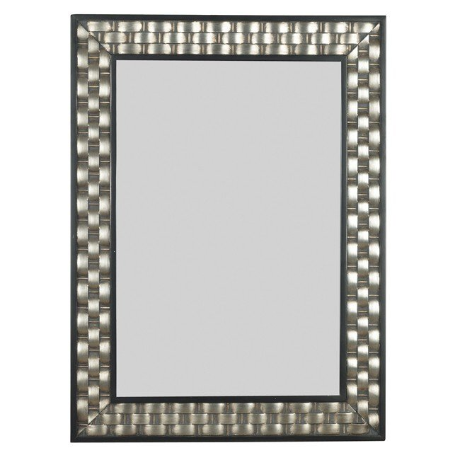 Checker Wall Mirror (Brushed Silver)