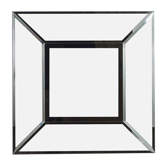 Cubic Wall Mirror (Black)