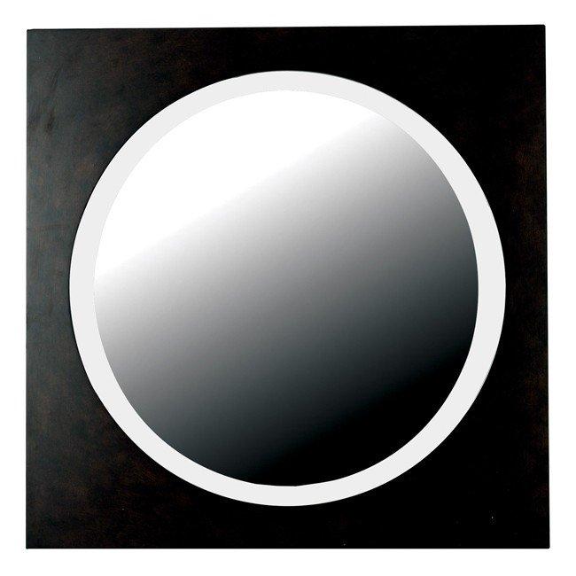 Eclipse Wall Mirror (Dark Walnut)
