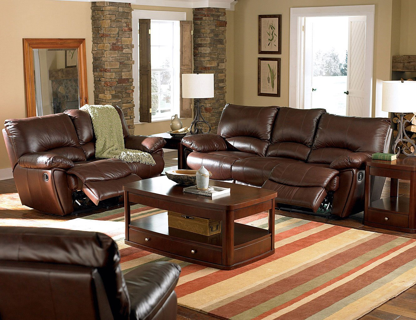 Clifford Reclining Living Room Set W/ Power Coaster ...