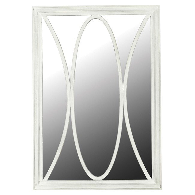 Portico Wall Mirror (White Distressed)
