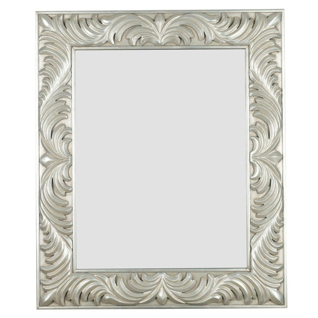 Antoinette Wall Mirror (Gilded Antique Silver)