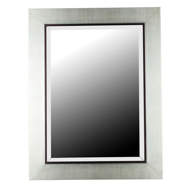 Dolores Wall Mirror (Silver Finish with Black Trim Accent)