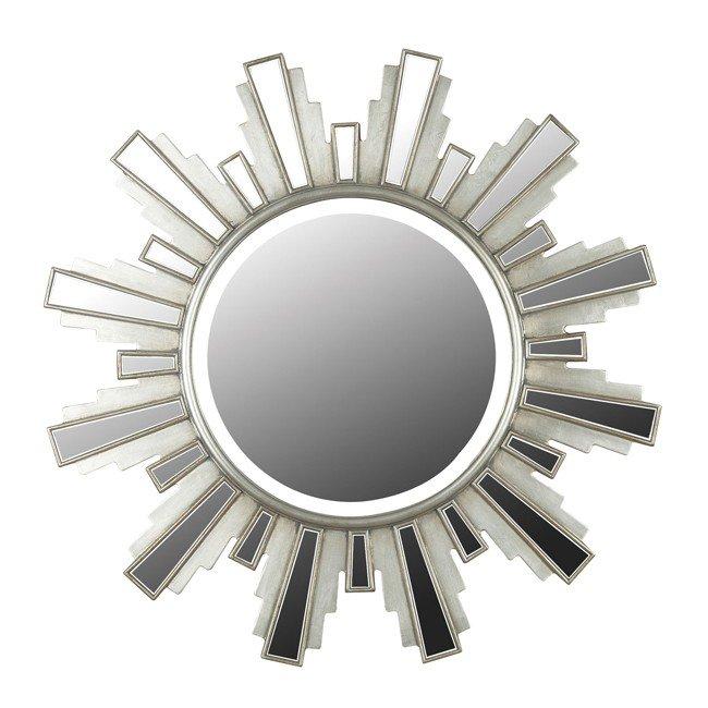 Francisco Wall Mirror (Antique Silver)