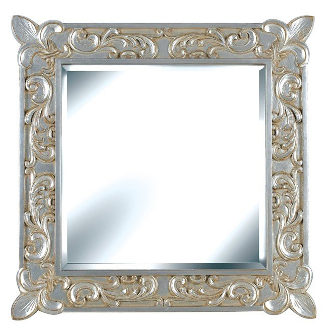Mireaux Wall Mirror (Gilded Antique Silver)