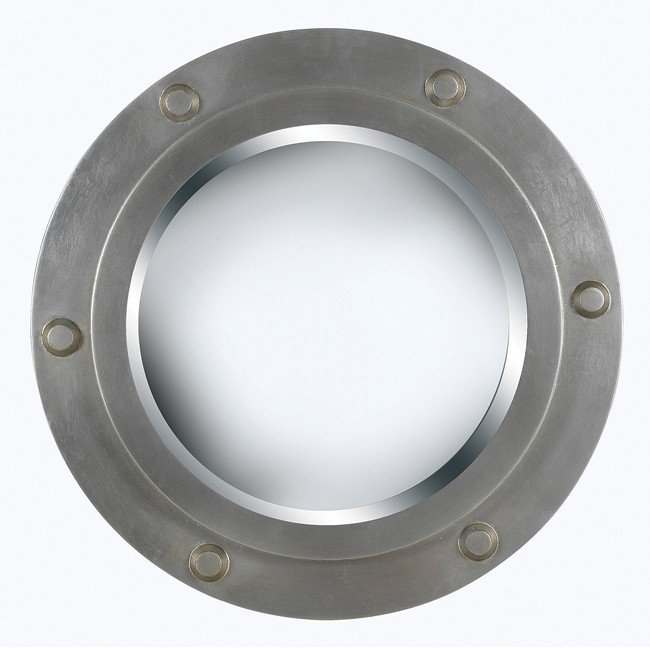 Portside Wall Mirror (Weathered Steel)