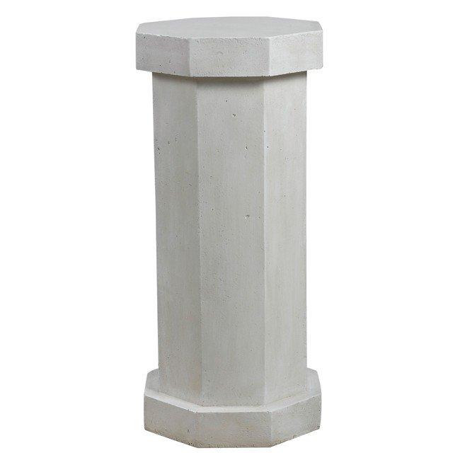 Facet Pedestal (Roman White)