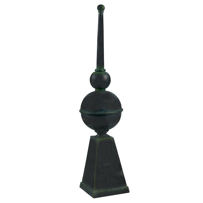 Weather Vane Finial (Garden Bronze Finish with Gold Highlights)