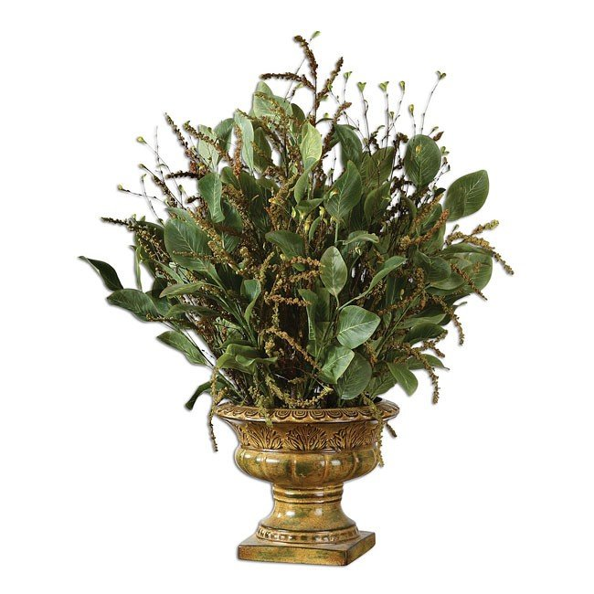 Berry Branches In Tuscan Urn