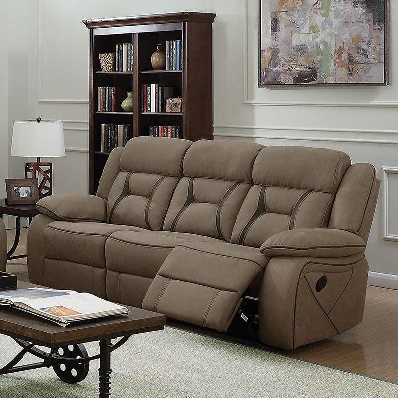 houston reclining living room set tan coaster furniture