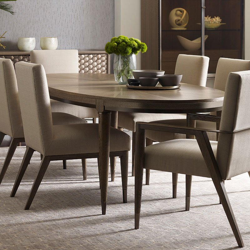 Ad Modern Clics Lloyd Oval Dining Table American Drew Furniture Cart
