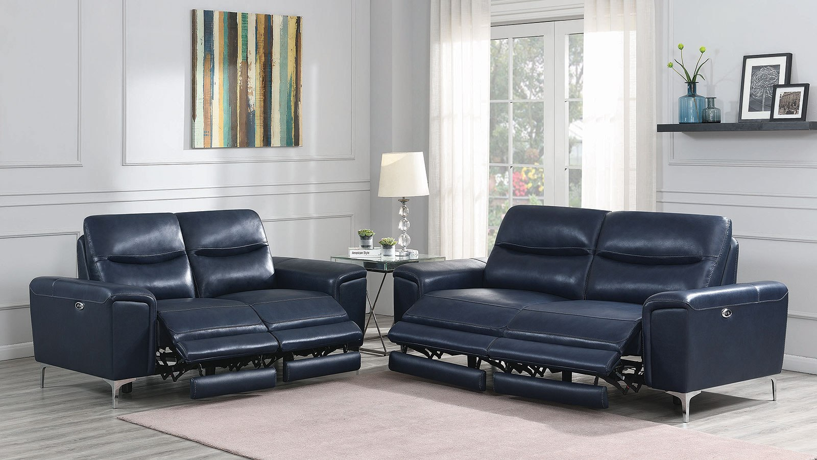 Superb Largo Power Reclining Living Room Set Ink Blue Pdpeps Interior Chair Design Pdpepsorg
