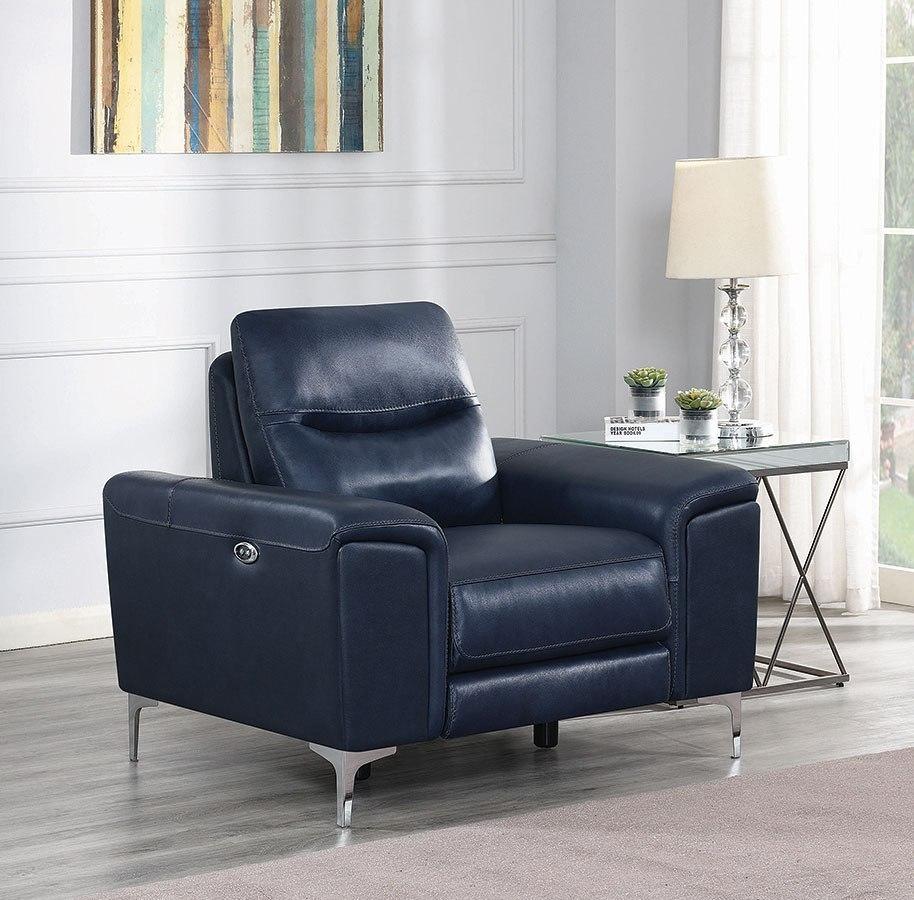Largo Power Reclining Living Room Set Ink Blue Coaster