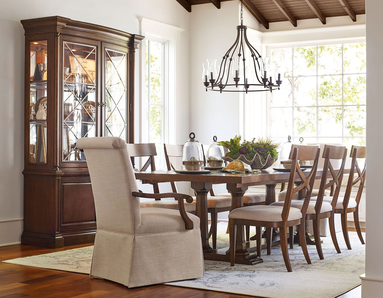 Upstate Rectangular Trestle Dining Set w/ Chair Choices