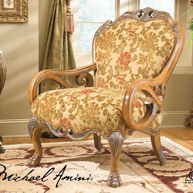 Eden Wood Trim Chair By Aico Furniture