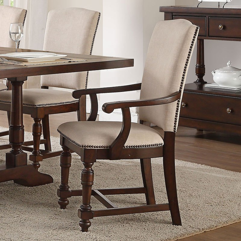 Tanner Upholstered Arm Chair Set Of 2 Acme Furniture