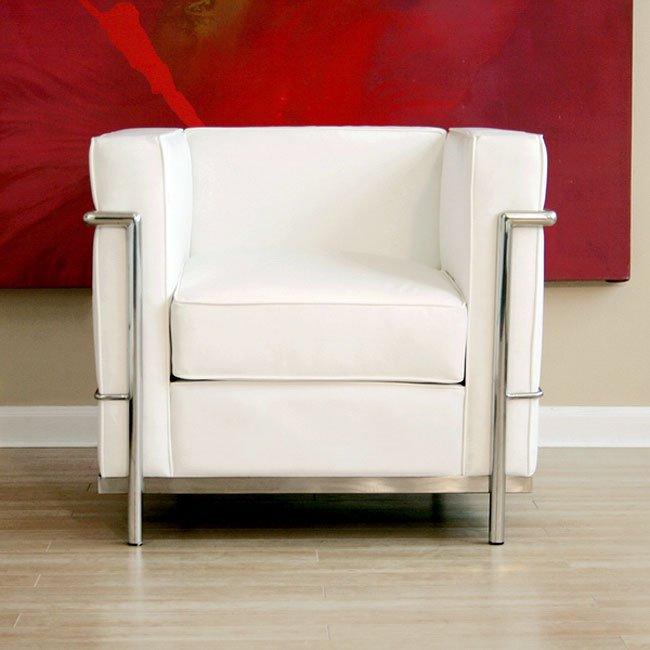 Le Corbusier-Style Chair (White)