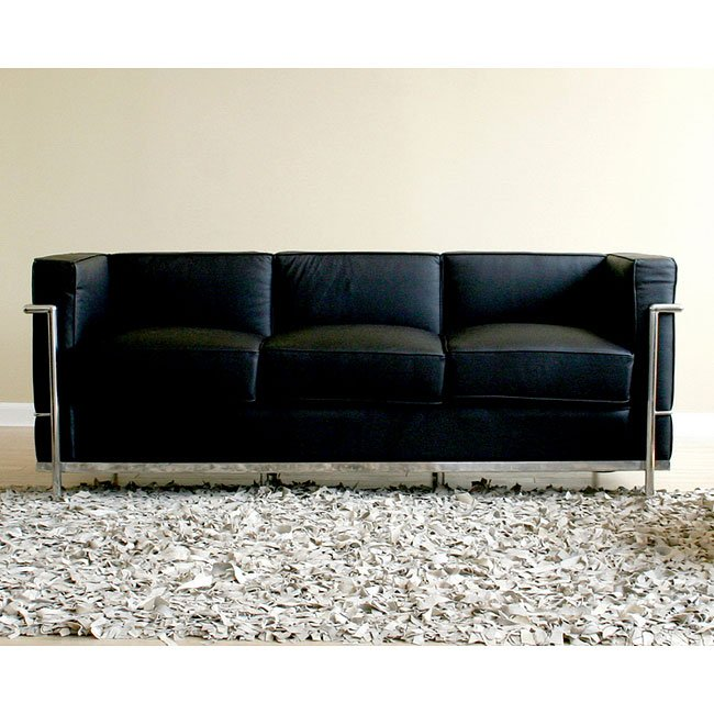 Le Corbusier-Style Sofa (Black)