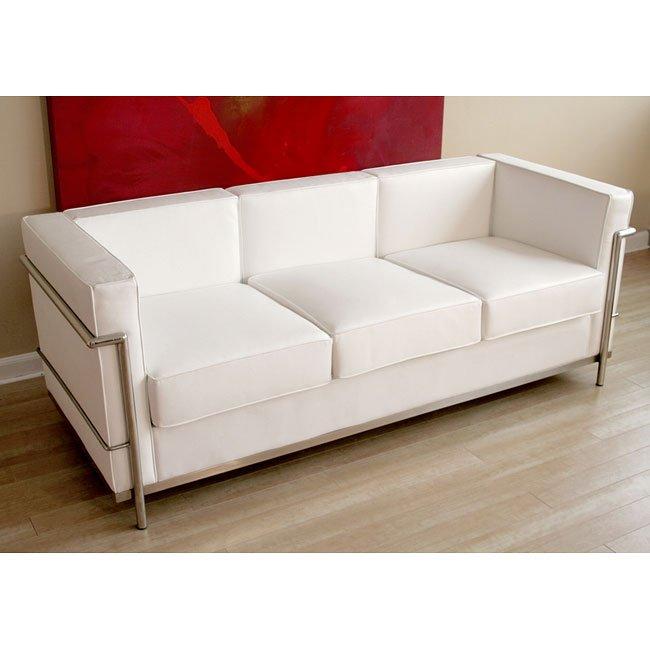Le Corbusier Style Sofa White