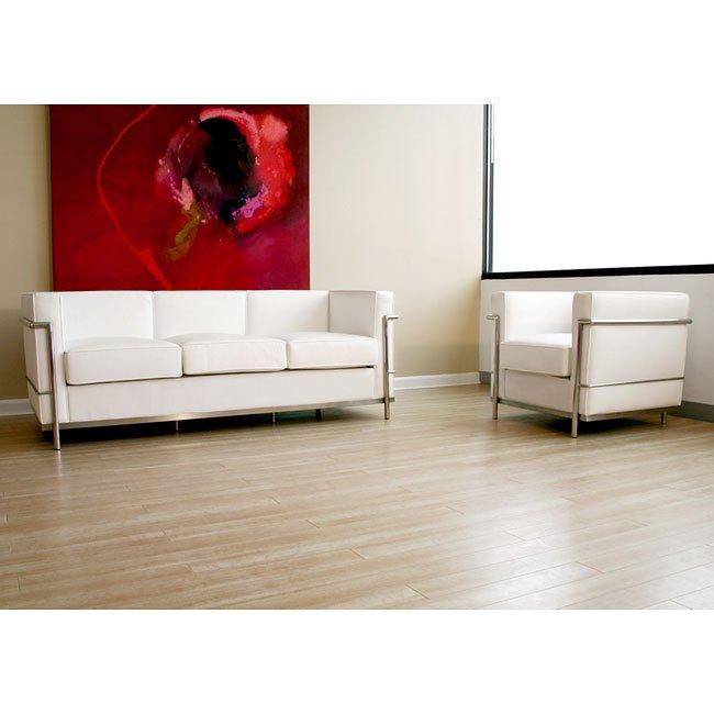 Le Corbusier-Style Living Room Set (White) Wholesale