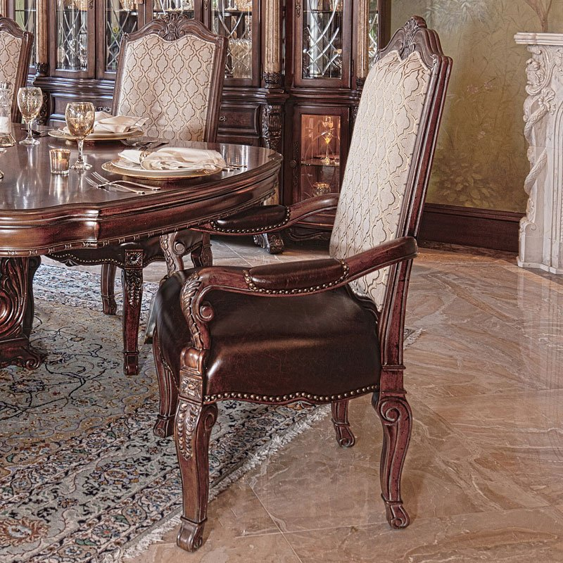 Victoria palace arm chair set of aico furniture