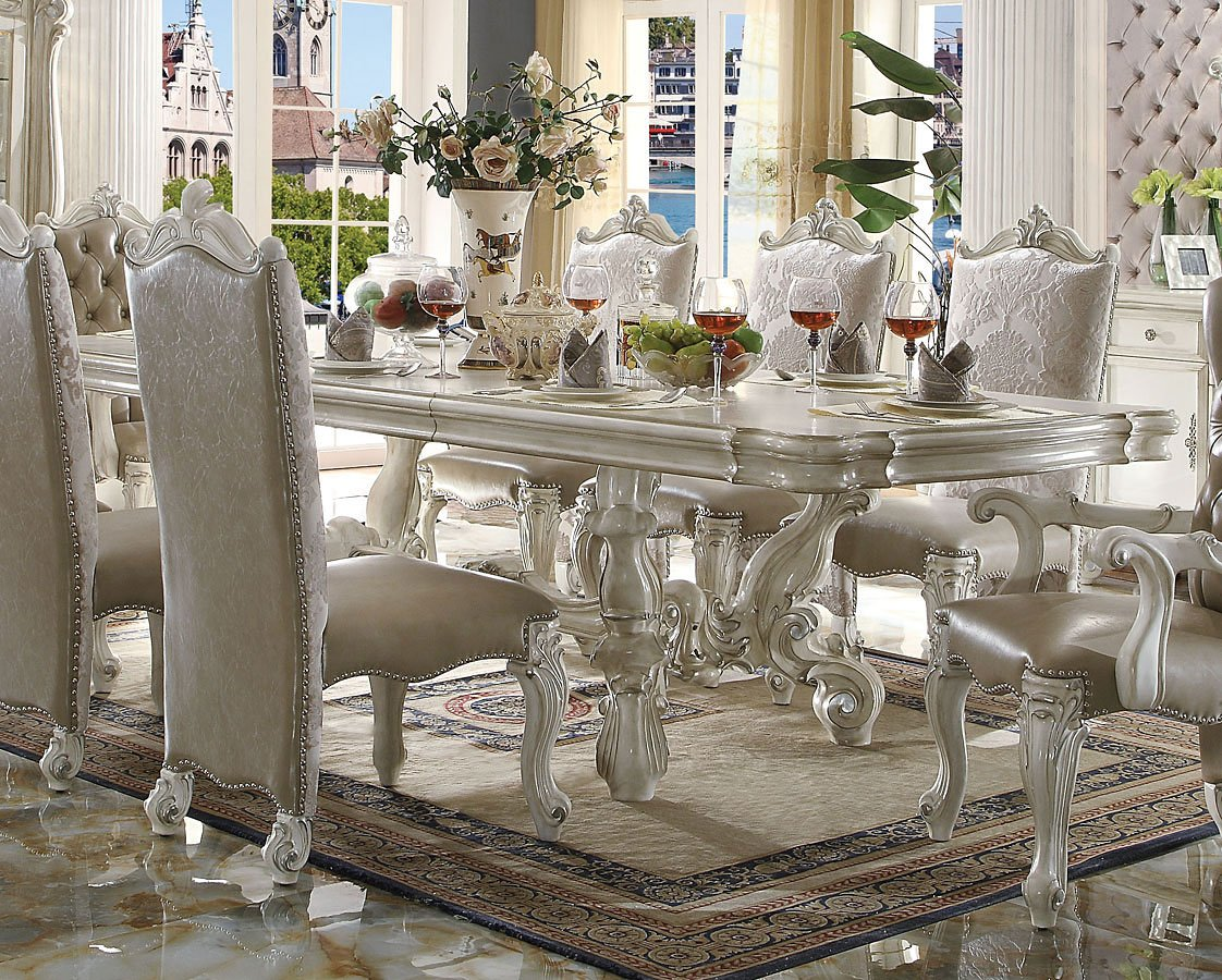 versailles 120 inch dining table bone white acme furniture 1 rh furniturecart com versailles dining table barker and stonehouse versailles dining table barker and stonehouse