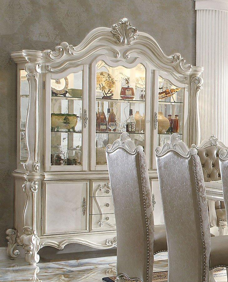 Versailles Buffet W/ Hutch (Bone White) Acme Furniture, 1
