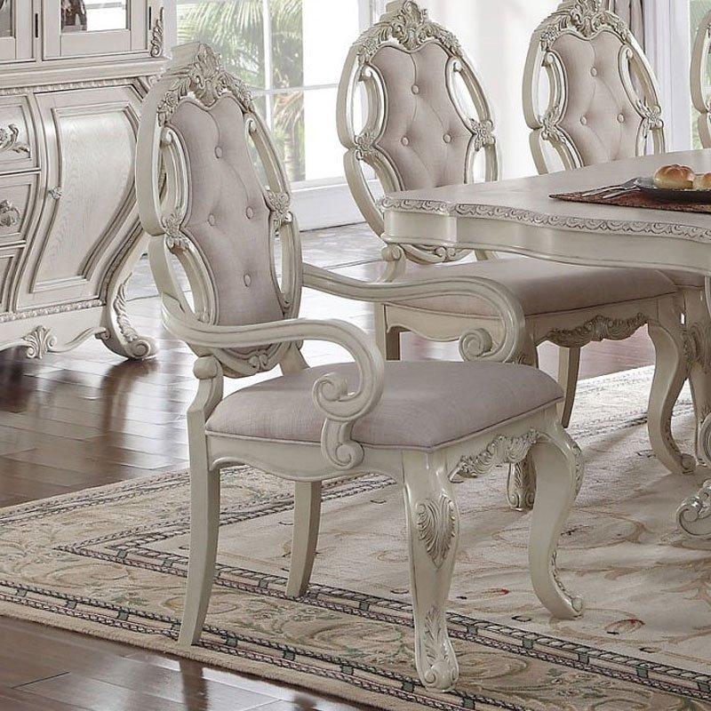 Ragenardus Dining Room Set (Antique White) Acme Furniture